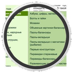 Всплывающее меню каталога в ShopCMS