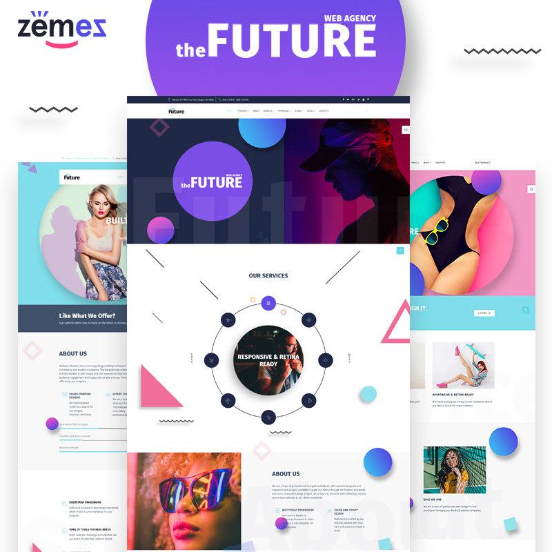HTML шаблон The Future - Web Design Multipurpose HTML5