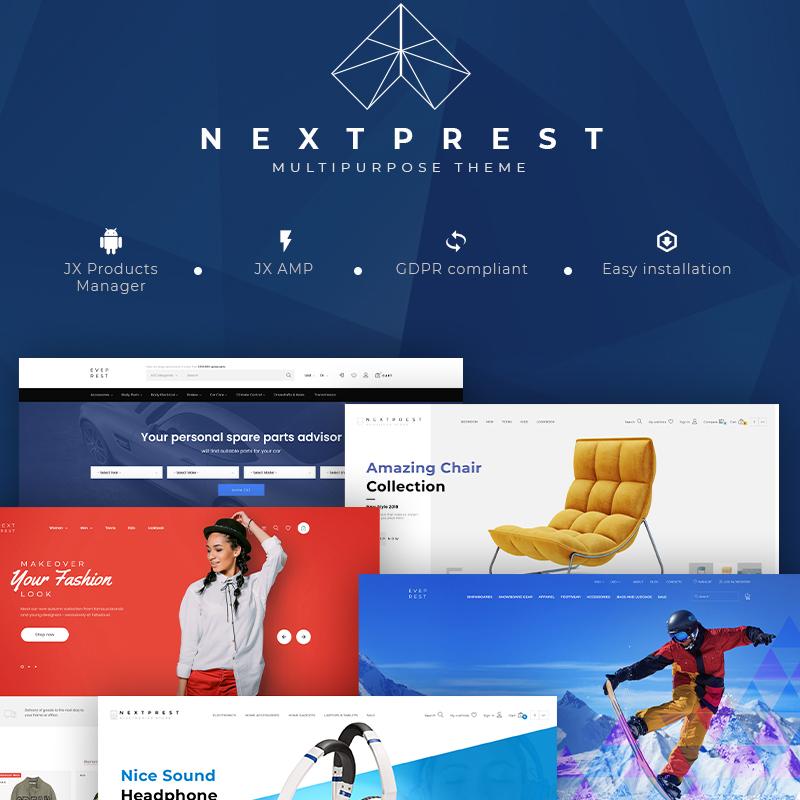 NextPrest — Многоцелевой PrestaShop шаблон интернет-магазин на Bootstrap