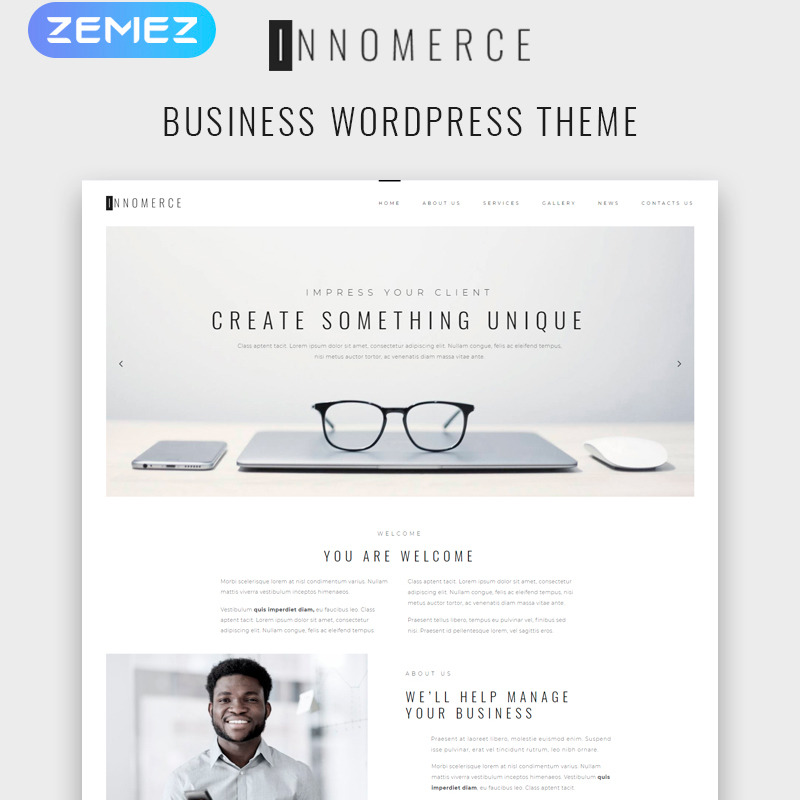 WordPress шаблон Innomerce - Business Multipurpose Minimal Elementor