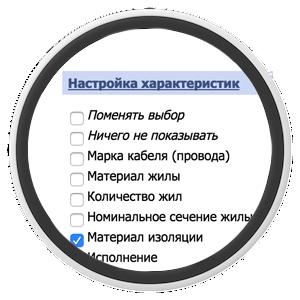 Модуль настройки характеристик для каждой категории в ShopCMS